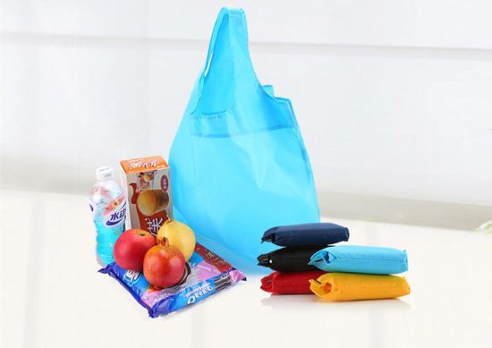 1866fcaba04 Folding Shopping Bag Large Nylon Bags Thick Foldable Waterproof Ripstop Shopping  Bags Travel Bag Reusable pictures