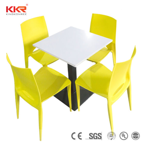 China Marble Stone Table Top Seaters Dining Table For Restaurant - 4 top restaurant table