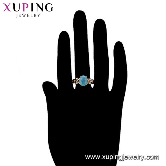 14945 Fashion Elegant Small CZ 18K Gold-Plated Women Imitation Jewelry Finger Ring pictures & photos