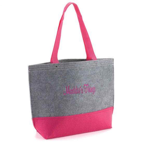 Wholesale Trendy Fashion Easy to Decorate Felt Shopping Handbag