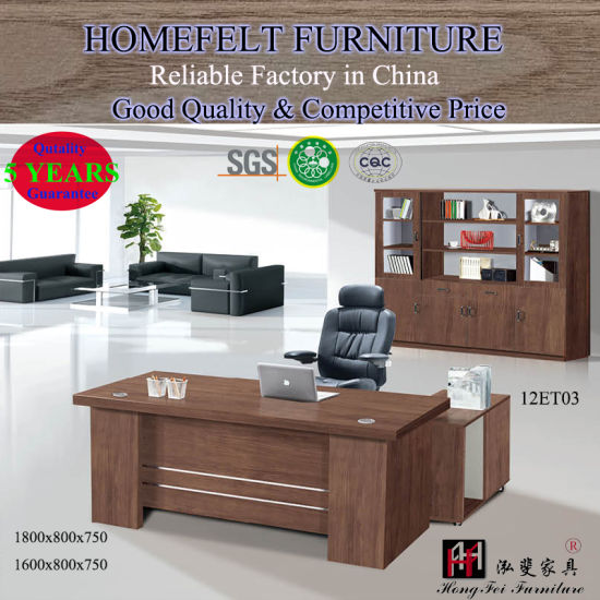 Modern Furniture 18m Wooden Executive Computer Desk Office Table