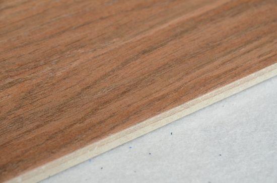 China Porcelain Wooden Grain Texture Tile Flooring Teak Wood Floor