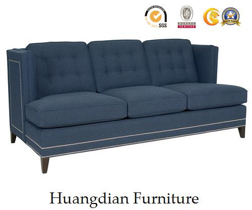Modern Living Room Sofa Navy Fabric Sofa Couch (HD540)