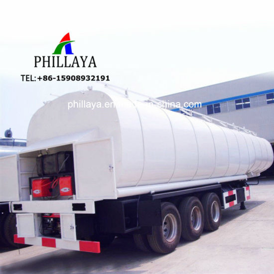 3 Axles 50000liters Asphalt Tanker with Truck Semi Trailer Chassis pictures & photos