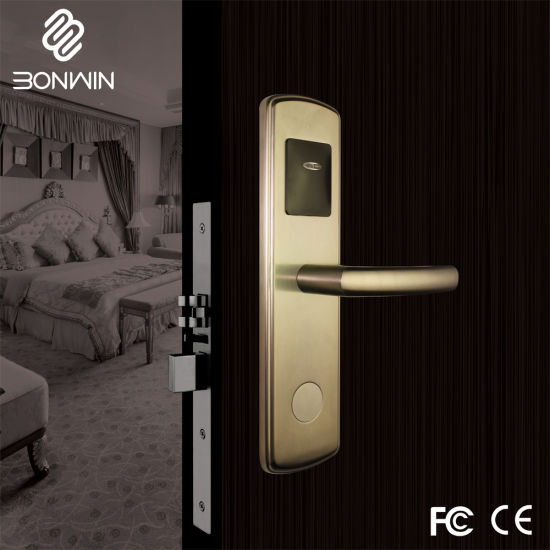 China Pvd Star Hotel Magnetic Card Lock For Interior Doors China