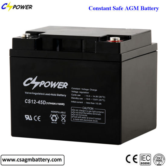 Sealed Rechargeable Lead Acid Battery 12V 45ah AGM Battery