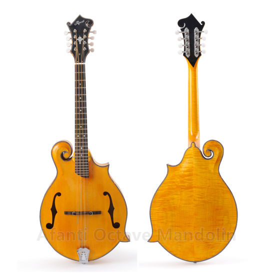 China Afanti F Style AA Solid Flamed Maple Octave Mandolin
