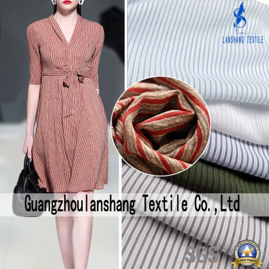Yarn Dyed 100%Polyester Fabric for Shirt Blouse Dress Curtain