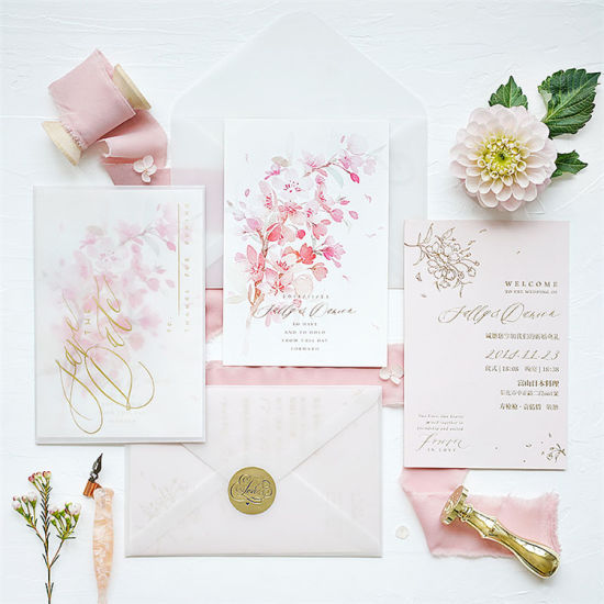 Pulling Type With Custom Logo Wedding Invitation Card