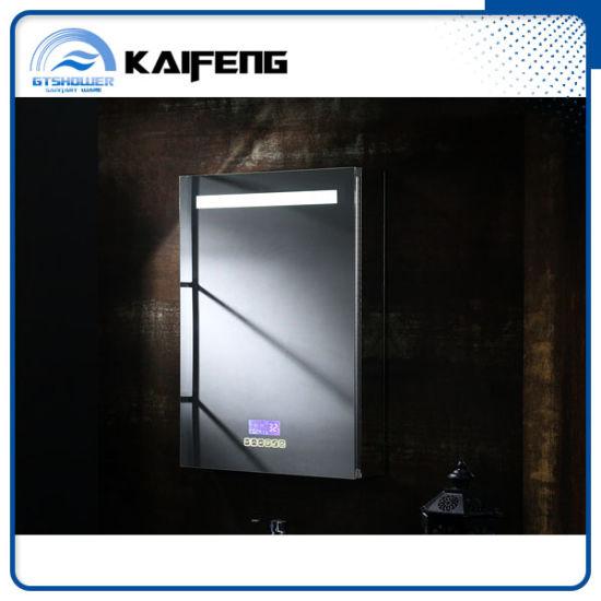 Wall Mounted Hotel Bathroom Mirror Cabinet, Bluetooth, Illuminated, LED (SM-010)