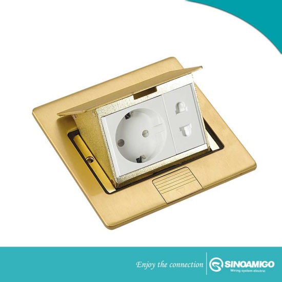 High Quality Pop-up Copper Florr Outlet Spu-5 Bs Socket Stainless Steel Floor Boxes with RJ45