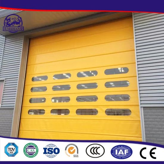 Motorized PVC High Speed Windproof Belt Security Safety Door pictures & photos