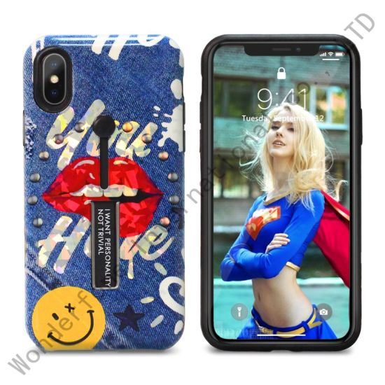 3D Laser Varnish 2 in 1 TPU and PC Case for Samsung J8 2018