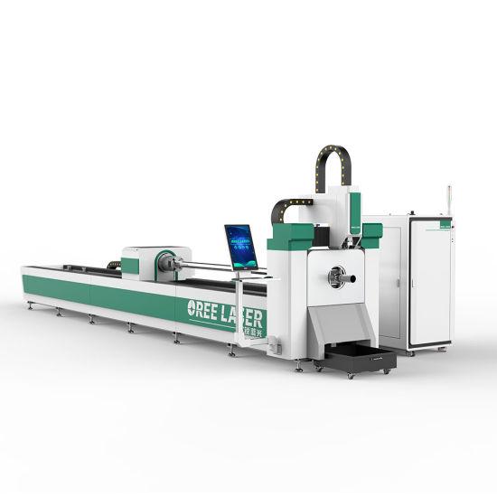 Metal Tube CNC Fiber laser cutting machine stainless steel aluminum pipe laser cutter