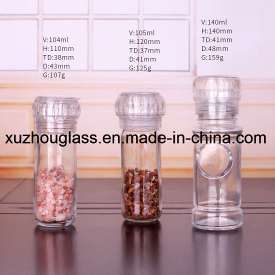 100ml 3.5oz Glass Spice Bottle Glass Condiment Bottle for Salt and Pepper Grinder pictures & photos