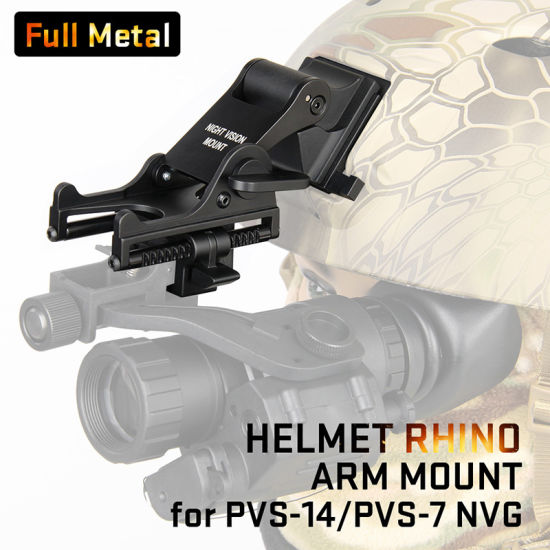 Helmet Adapter Tactical Hunting Plastic Adapter for Full Metal Nvg Mounting Psv-7 or Psv-14 HK24-0131 pictures & photos