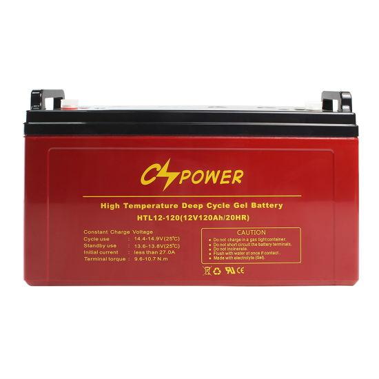 12V 120ah 50%Dod 1600cycle Gel Battery