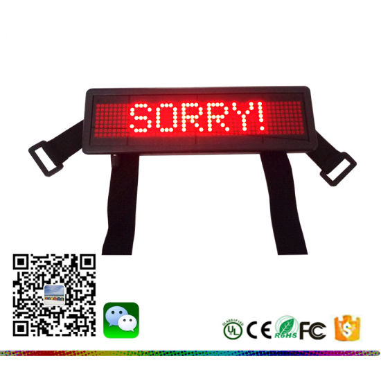 Brightness Adjustable 6 Level LED Mini Car Sign Series IR Remote Controller USB Computer 848 LED Car Taxi Display Board pictures & photos