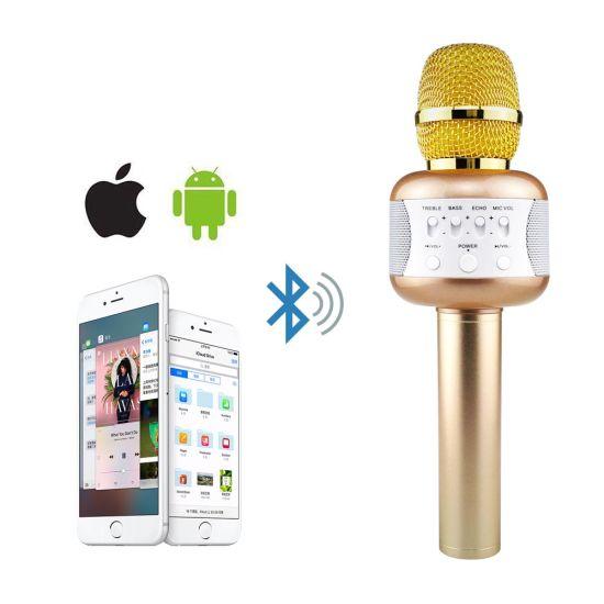 Wireless Karaoke Microphone E106 Portable Bluetooth Speaker Mikrofon with Disco Light Phone Holder KTV Mic Music Karaoke Device