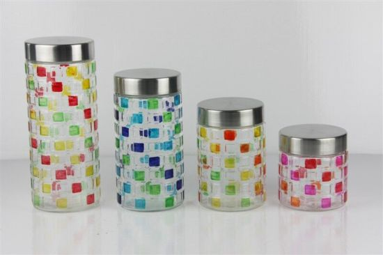 Glass food container bottle with airtight lid pictures & photos