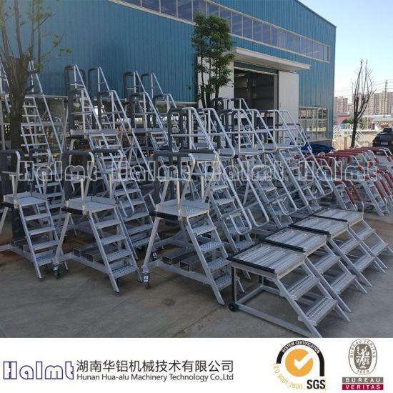 Customized Industrial Aluminum Platform Step Ladder