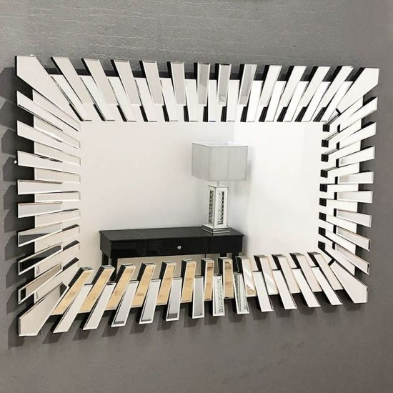 China Living Room Rectangular Gear Wall Mirror China Reatangular Mirror Decorative Mirror