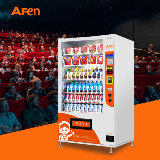 Afen Classic Bottle Combo Mobile Payment Casheless Vending Machine with Refrigerator