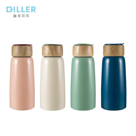 350ml / 460ml Manufacture Wood Flask Vacuum Insulated Flask