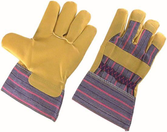 Yellow Stripe PVC Impregnated Gardening Super Light Weight Work Glove
