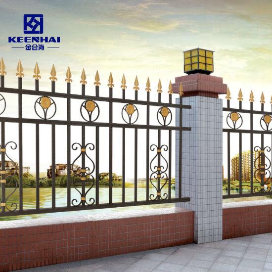 Villa Decorative Vintage Metal Cast Aluminum Garden Fence