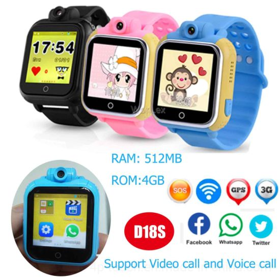 Waterproof Kids GPS Tracking Device with Large Memory D18s