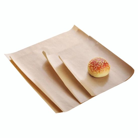 Blank Greaseproof Kraft Fast Food Burger Chicken Wrapping Paper