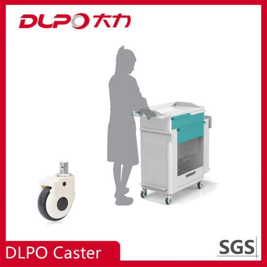 Dlpo 125mm Trolley TPR / PU Medical Wheel Castor/Caster for Nurse Use