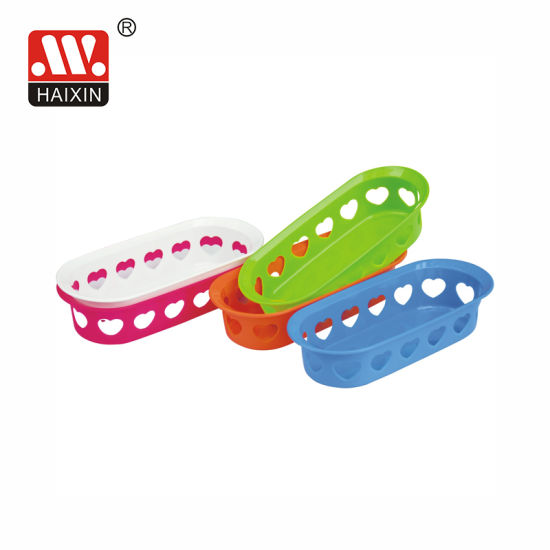 Wholesale Household Plastic Storage Basket with Heart