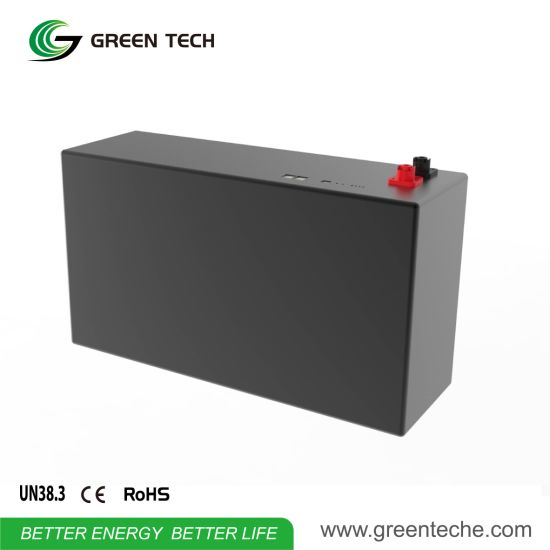 50000 Cycles Lithium Ion Rechargeable LED Lighting Battery Pack 48V 2.62kwh Graphene Battery