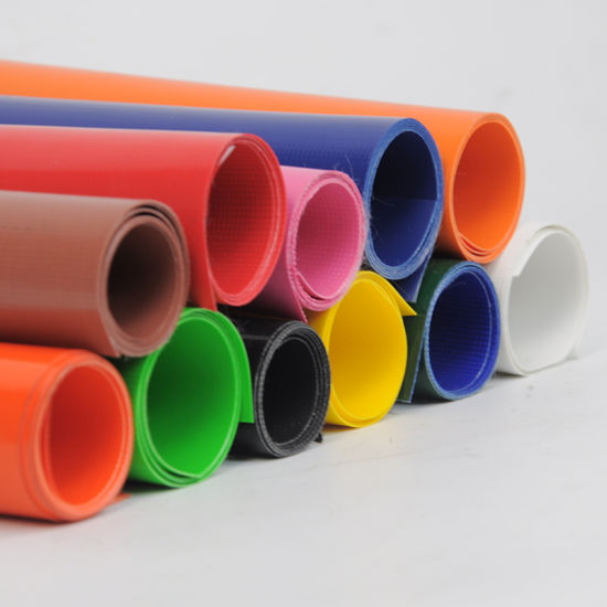 300-1500GSM 100% Polyester PVC Tarp Vinyl Coated Tarpaulin Fabric Rolls