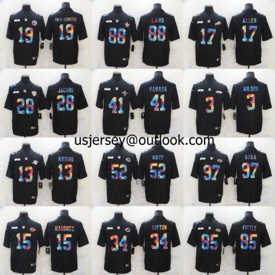 Wholesale Cheap N-F-L American Football All Team Jerseys Rainbow ...