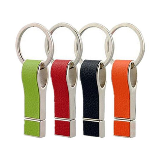 Mini Key Ring USB 2.0 /3.0 Leather USB Pen Drive 8GB 16GB 32GB Flash Drive/Thumbdrive/USB Flash Drives