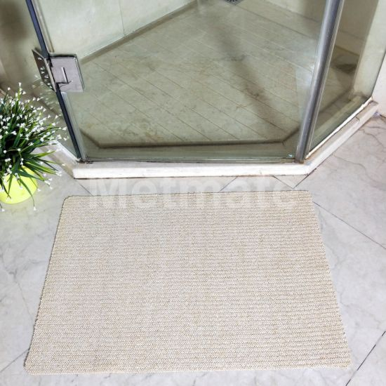 China Yellow Spun Gold With Plastic Woven Design Large Bathroom Rugs China Large Bathroom Rugs And Woven Bathroom Rugs Price