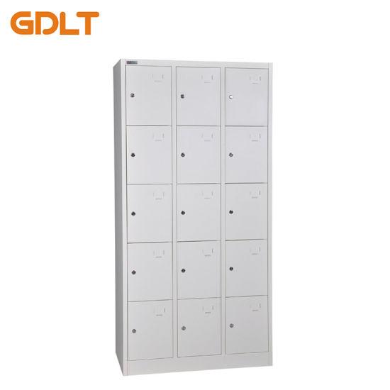 Cheap Gym Metal Locker 15 Door Changing Room Locker Cabinet Wholesale