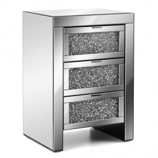 Mirrored Bedside Table With Diamond Crush China Nightstand Made In Com