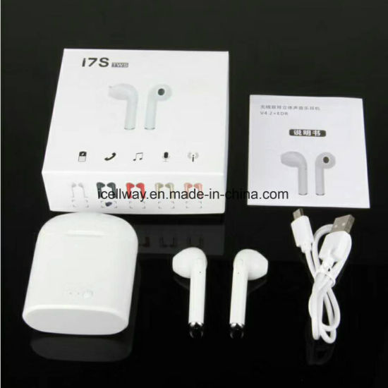 afbb39818ea Twins Wireless Bluetooth Stereo Headset Earphones I7s Tws with Charging Case