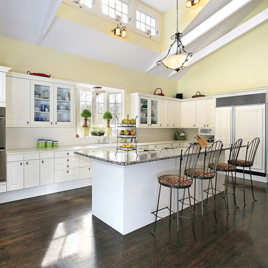 American Style Solid Wood Galley Kitchen Designs Wooden Cupboards