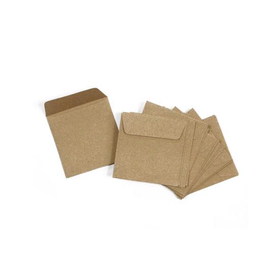 China Custom Brown Kraft Paper Envelope for Cards Packaging