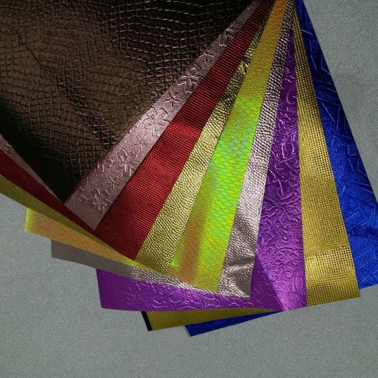 Factory Laminated Aluminum Foil Nonwoven Fabric for Sale Different Color, Emboss for You Choice pictures & photos