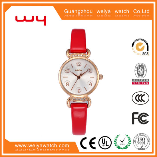 Own Logo Ladies Gift Swiss Quartz Jewelry Quality Watches (WY-009)