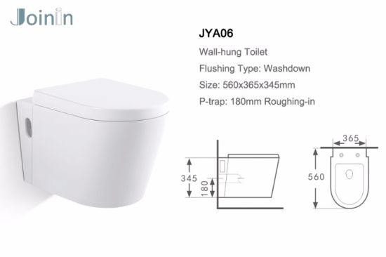 Sanitary Ware Bathroom Water Closet Ceramic Wc Wall Hung Toilet From Chaozhou (JYA06) pictures & photos