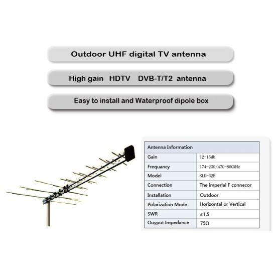 China Factory 32-E New Outdoor Digital UHF VHF TV Antenna - China