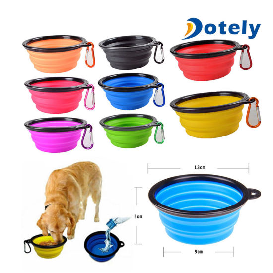 Dishes, Feeders & Fountains Official Website Pet Dog Collapsible Bowl Puppy Folding Portable Camping Travel Feeding Food Dish