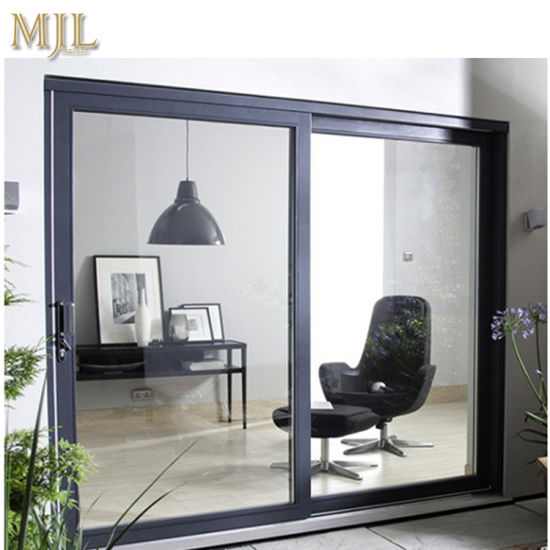 China Aluminium Frame Tempered Glass Exterior Sliding Door - China ...